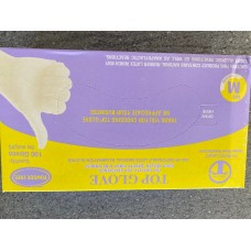 Latex Gloves Powder Free Large x 100