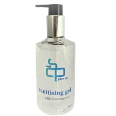 Sani Pure Co Vegan Friendly  Hand Sanitising Gel with Lemongrass 300ml